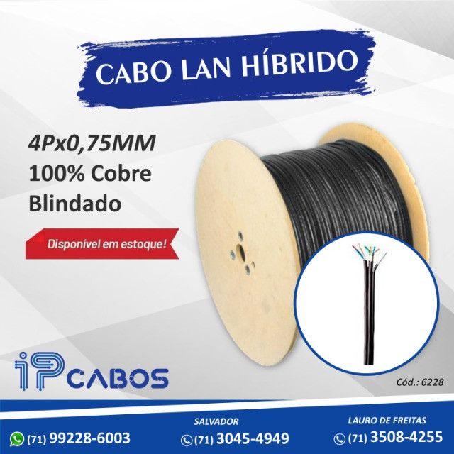cabo lan hibrido 100% cobre blindado confira nossos preços !!