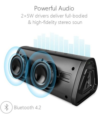 Caixa Som Portátil Mifa A10 Bluetooth 10w - MIFA - À Prova D'água - Black,<br><br> - Foto 4