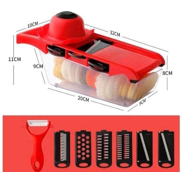 Kits cortador ralador fatiador ótimo pra fazer diversos tipos de salada só 65 REAIS - Foto 2