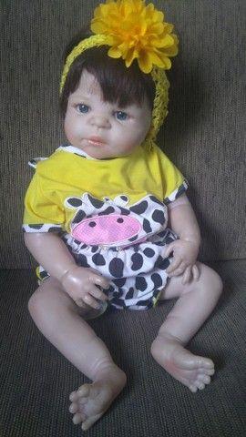 Boneca Bebê Reborn - seminova - Foto 5