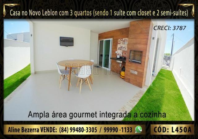 Ampla casa no Novo Leblon com 3 quartos, já com móveis projetados