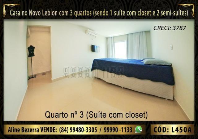 Ampla casa no Novo Leblon com 3 quartos, já com móveis projetados - Foto 8
