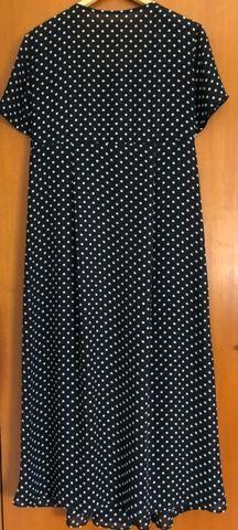 Vestido social longuette manga curta M, em crepe, usado - Foto 4