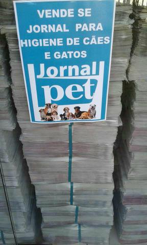 Aqui tem jornais para pet shop