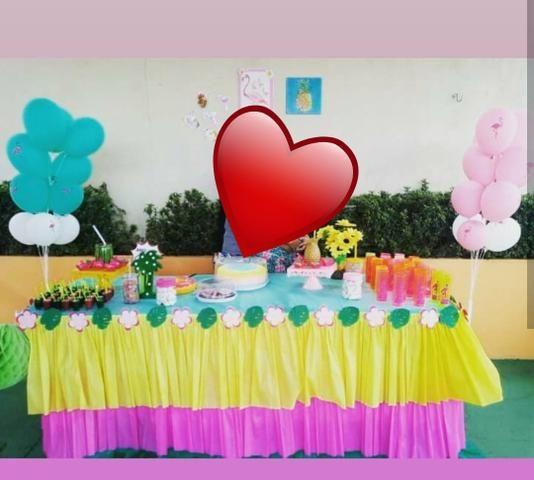 Artigo para festas tema flamingo