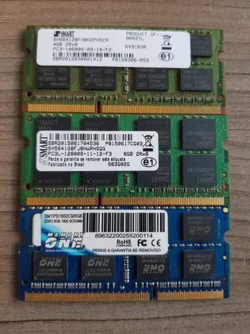 Memórias 8GB 4GB DDR3 Notebook