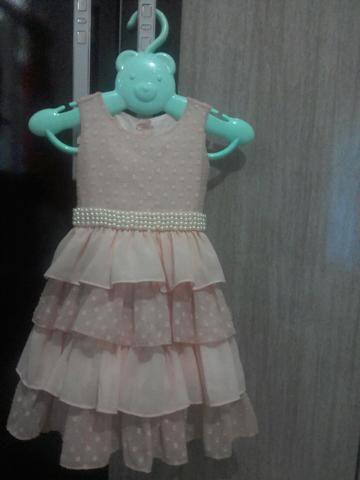 Lindo vestido infantil rosa