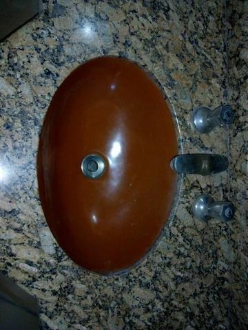 Pia banheiro granito