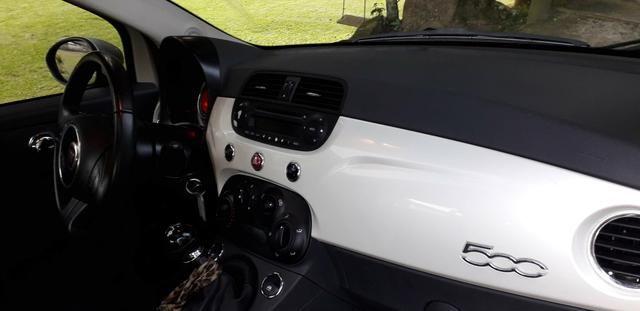 Fiat 500 Cult 2014 mecânico, teto solar - Foto 6