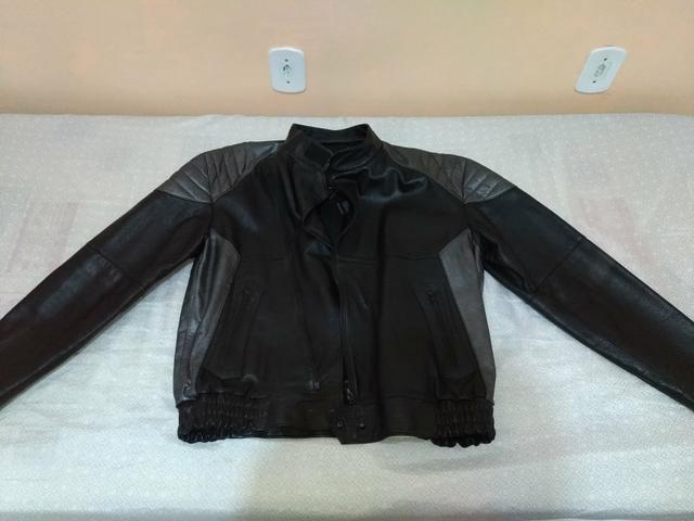 Conjunto calça e jaqueta 100% couro - Foto 2