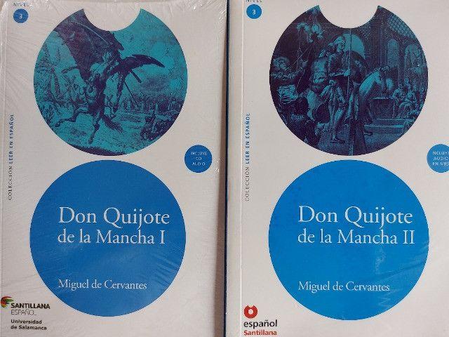 Livro paradidárico Don Quijote de la Mancha - Volumes I e II (adaptação)