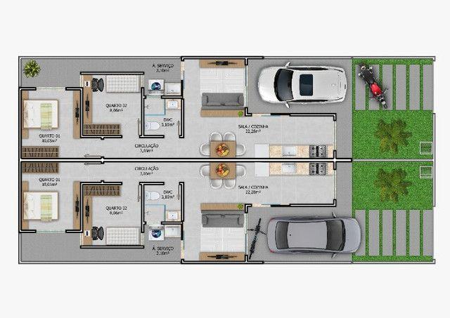(TH1007) Duplex com 2 suítes e garagem semi coberta no bairro Forquilhas em São José!!!   - Foto 16