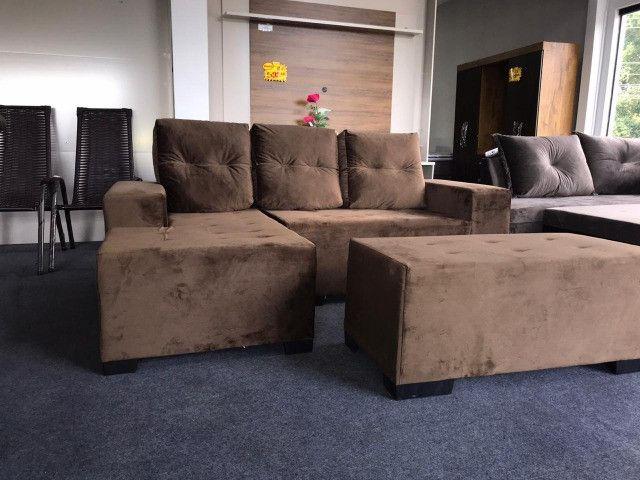 Sofa Chess Mexico Tecido - Foto 3