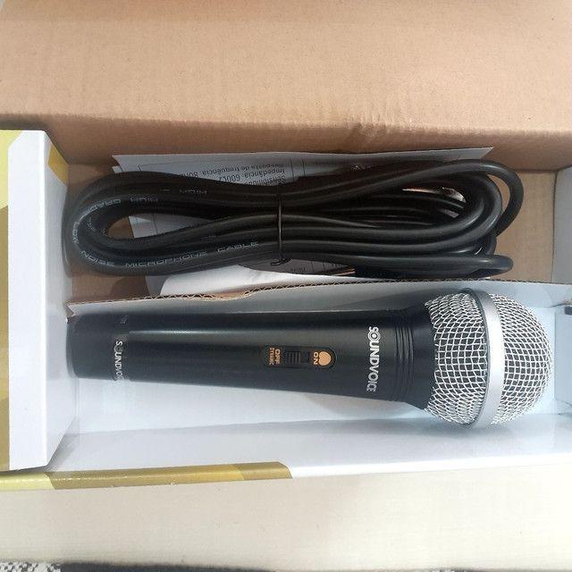 Microfone com fio Soudvoice SM - 100 - Foto 2