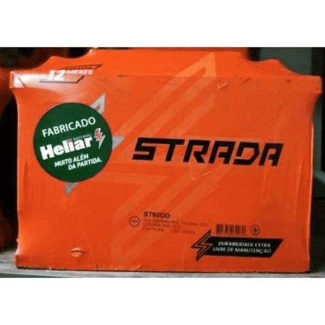 Bateria Automotiva Strada (Grupo Heliar) 50/60AH Selada, S/ Manutenção, Garantia 12 Meses