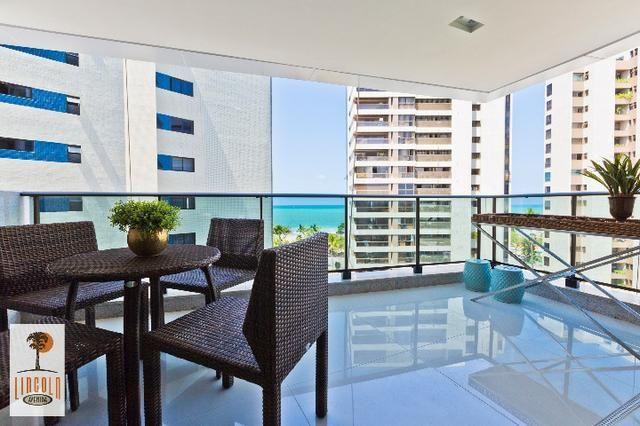 Apartamento vista mar de boa viagem, 4 súites, 3 vagas alto padrão