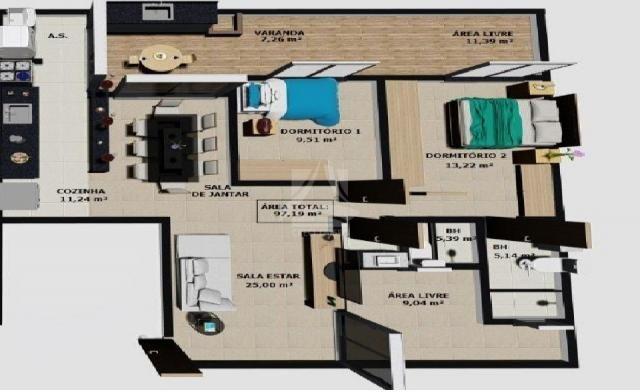 Apartamento à venda com 2 dormitórios em Parque dos bandeirantes, Ribeirão preto cod:58708 - Foto 2
