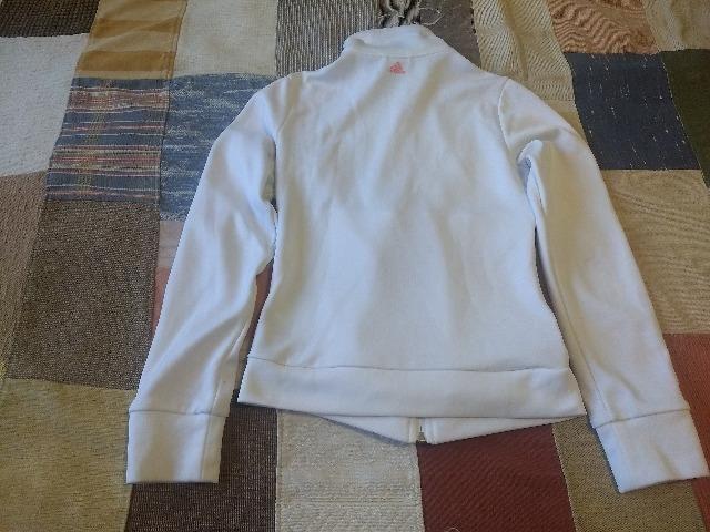 Jaqueta Adidas Feminina branca - Foto 3