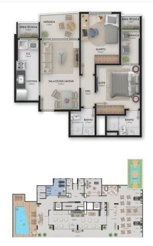 Troco ou vendo apartamento de 2 quartos - Foto 4