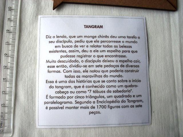 Brinquedo - Tangram De Madeira - Usado - Foto 5