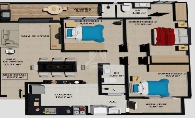 Apartamento à venda com 3 dormitórios em Parque dos bandeirantes, Ribeirão preto cod:58709 - Foto 2