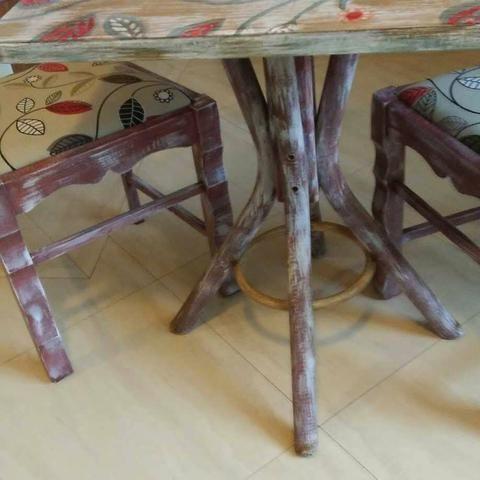 Jg mesa 2 cadeiras repaginado - Foto 2