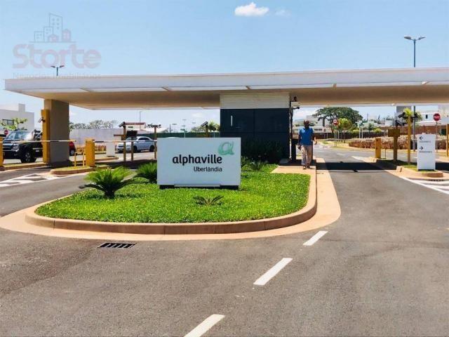 Terreno à venda, 483 m² por r$ 300.000,00 - granja marileusa - alphaville 1 - uberlândia/m