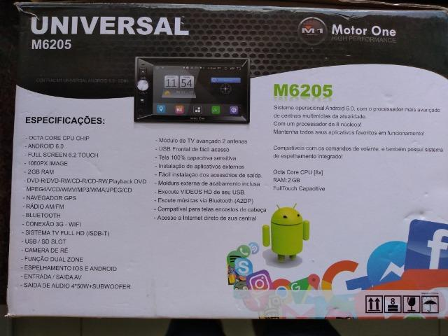 Central Multimidia M1 M-6205 (motor one) 2din, gps,tv Full Hd,android 6.0 - Foto 10