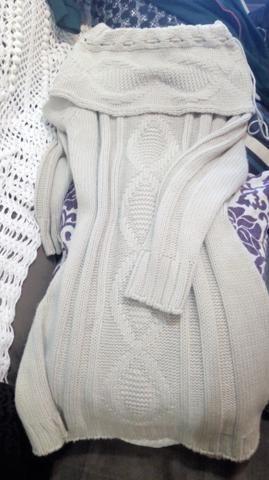 Sobrelegging Marfim em lã trabalhada - Foto 3
