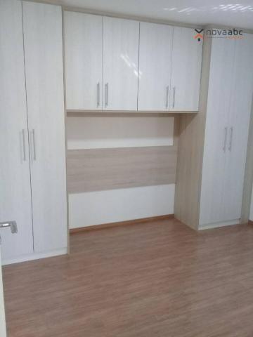 Apartamento com 3 dormitórios para alugar, 85 m² por R$ 2.500/mês - Jardim - Santo André/S - Foto 11