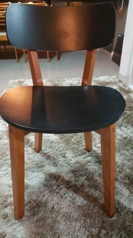 Vendo Cadeira Nozes Preto Hibisco (Tok&Stok)