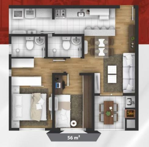 Apartamento à venda com 2 dormitórios em Santa cândida, Curitiba cod:64833 - Foto 18