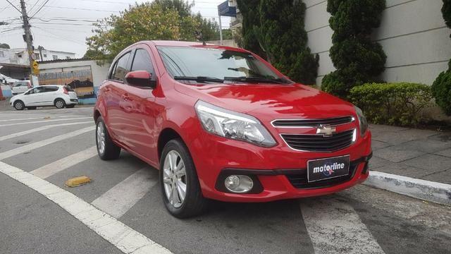 Chevrolet - Agile LTZ 1.4 Flex 2014 Vermelho Completo Super Novo Doc OK