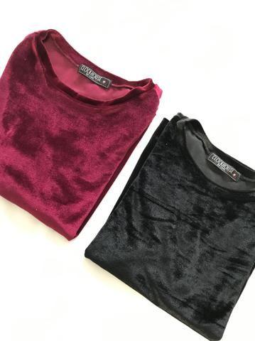 Blusas Camisetas Veludo - Foto 5