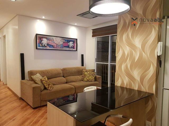Apartamento com 2 dormitórios para alugar, 50 m² por R$ 1.350/mês - Parque Erasmo Assunção
