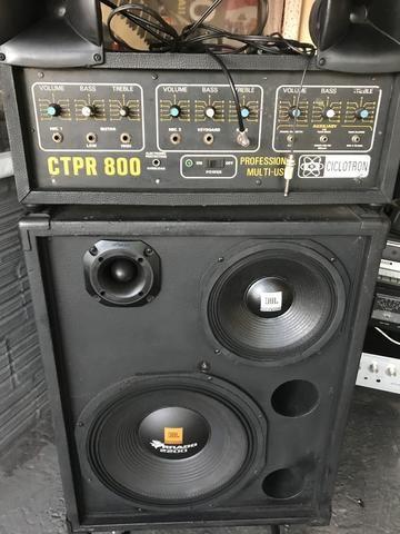 Cabeçote e caixa de som