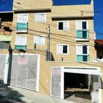 Apartamento com 2 dormitórios para alugar, 40 m² por R$ 1200/mês - Vila Floresta - Santo A - Foto 2