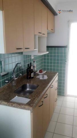 Apartamento com 2 dormitórios para alugar, 56 m² por R$ 1.200/mês - Utinga - Santo André/S - Foto 6