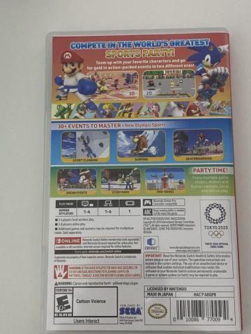 Mario e sonic nos jogos olímpicos 2020 para Nintendo switch - Foto 2
