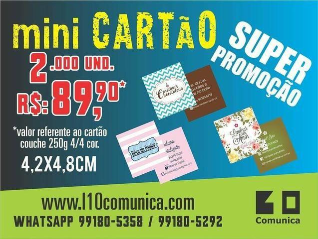 Promoção mini cartões de visita