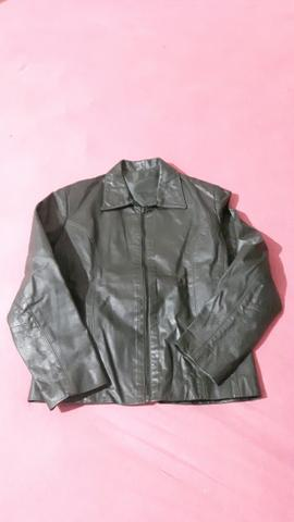 Casaco de couro legítimo Verde