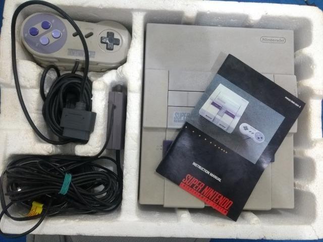 Super Nintendo Original Com Caixa e Manual + Super Mario World Original e Salvando