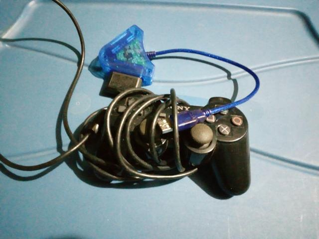 Controle Playstation 2 original + adaptador usb