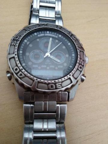 Raridade! Relógio Citzen original C 410 em aço inoxidável - Foto 2