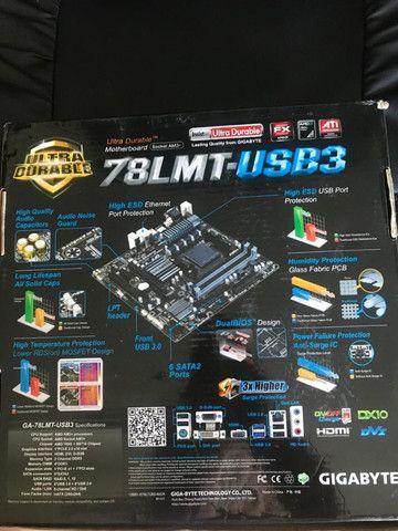 Placa mãe gigabyte 78 lmt - usb 3 - nova nunca foi usada - Foto 3