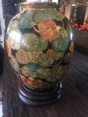 Espectacular vaso pintado a mão !  - Foto 3