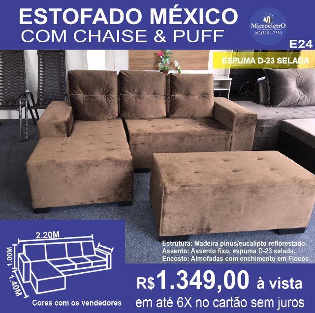 Sofa Chess Mexico Tecido - Foto 5