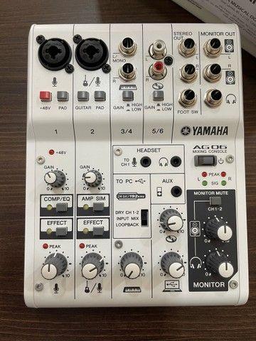 Mesa de som e interface Yamaha AG 06 - Foto 2