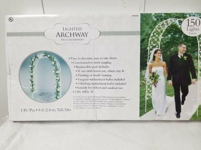 Arco Branco para Casamento com Luzes e 2.44 m de altura - Foto 2