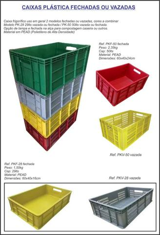 Caixa vazada uso em geral 29lts coloridas - Foto 2